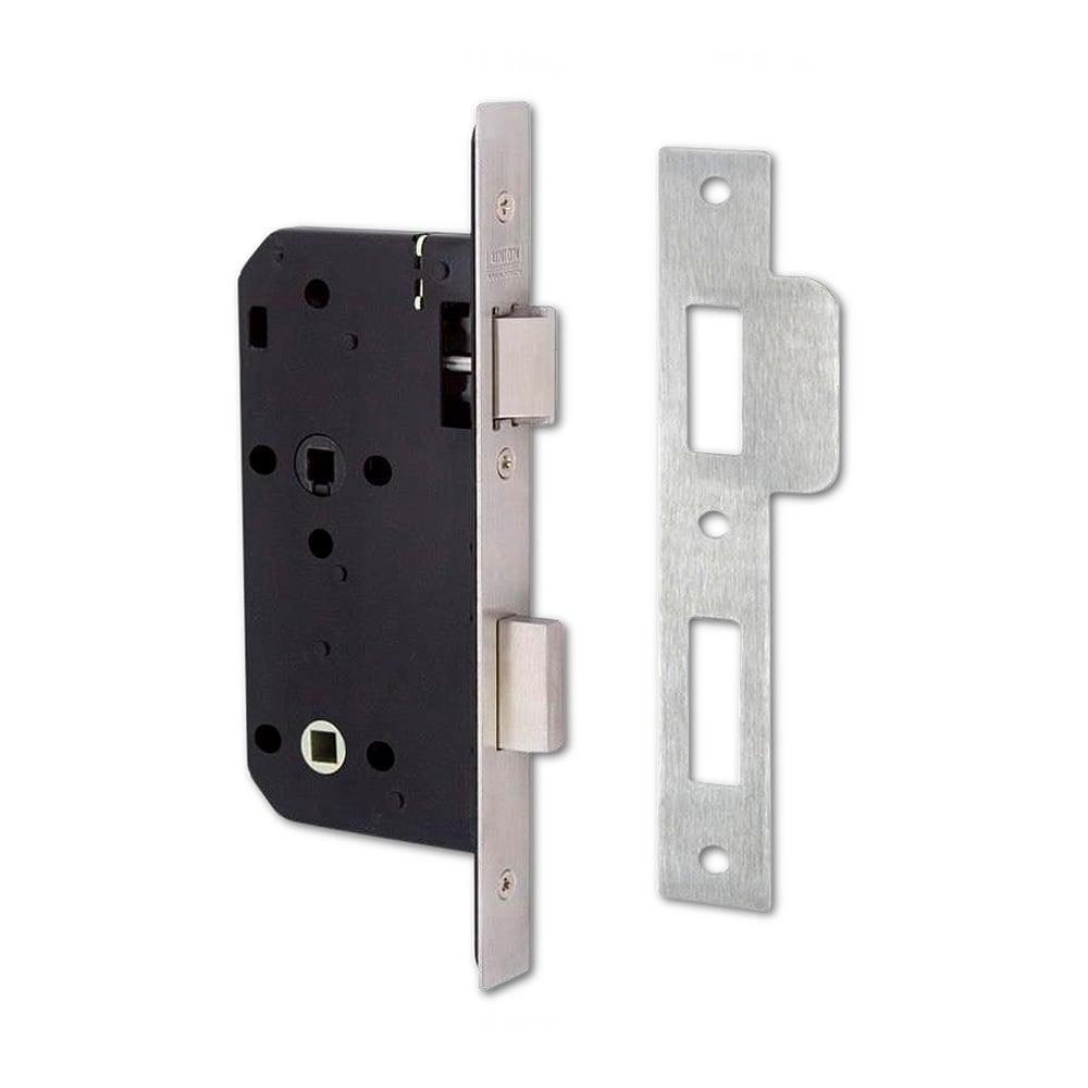 Stainless Steel 83mm J2C27 DIN Mortice Bathroom Lock   SQ