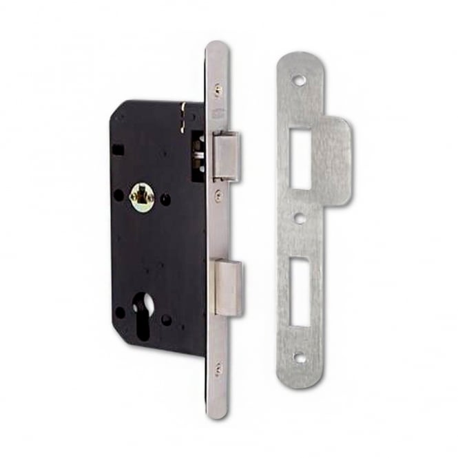 Union Stainless Steel 83mm JL2C26 DIN Euro Escape Sashlock - RD