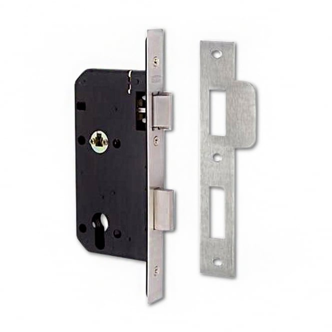 Union Stainless Steel 83mm JL2C26 DIN Euro Escape Sashlock - SQ