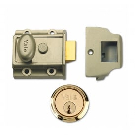 Bronze 706 40mm Traditional Nightlatch with Polished Brass Cylinder