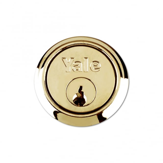 Yale Polished Brass 1109 5 Pin Rim Cylinder